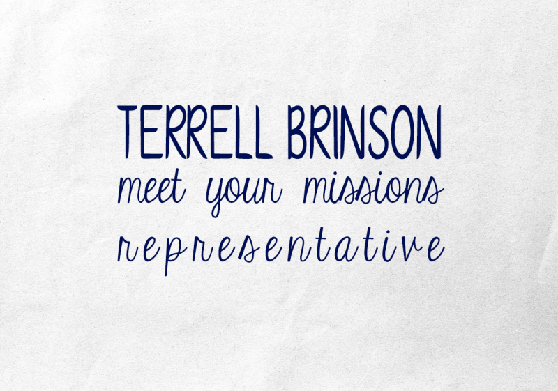 Meet your Missions Representative Terrell Brinson
