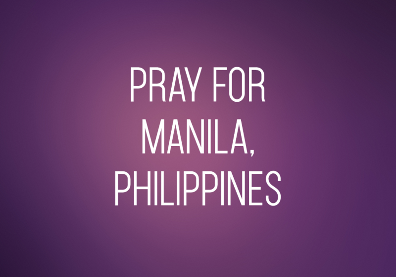 Pray for Manila, Philippines