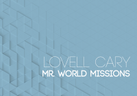 Lovell Cary Mr. World Missions